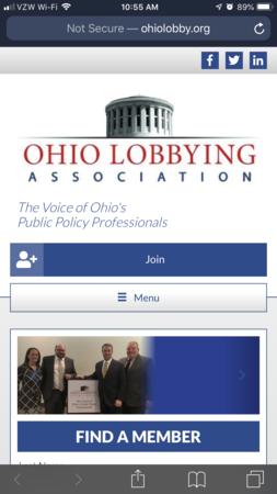 OLA Mobile Website Screenshot